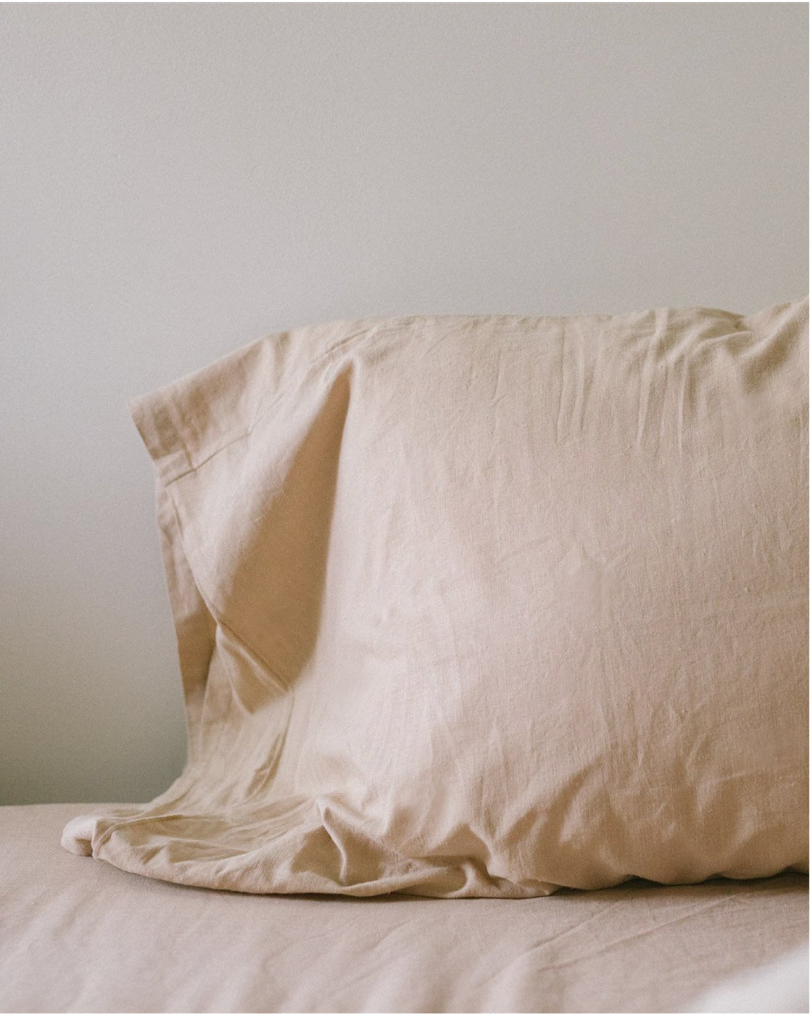 Hemp Pillowcase - Taupe Solid