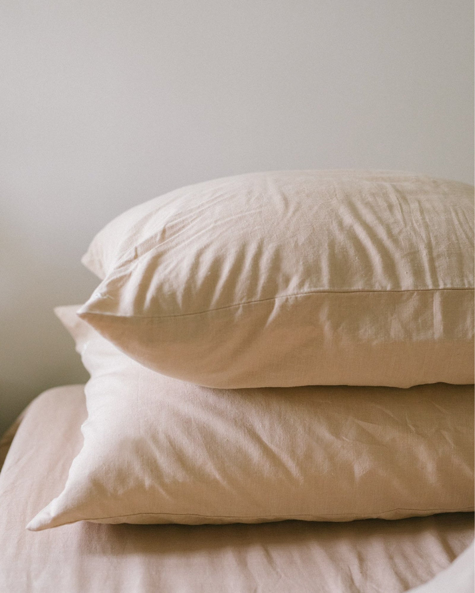 Hemp Pillowcase Set - Taupe Solid