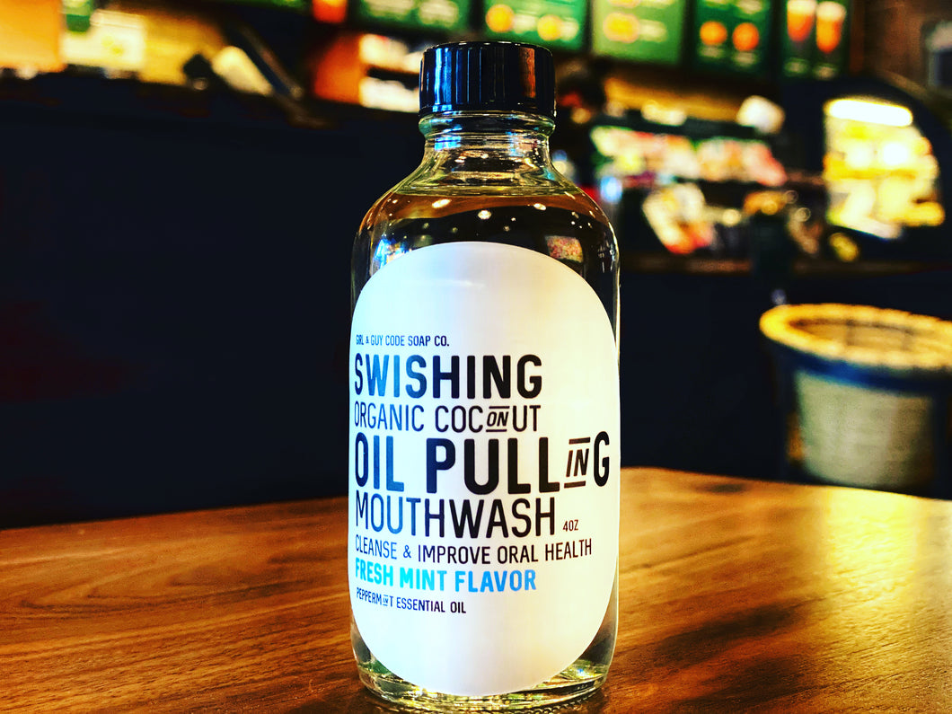 Swishing Oil Pulling Mouth Wash