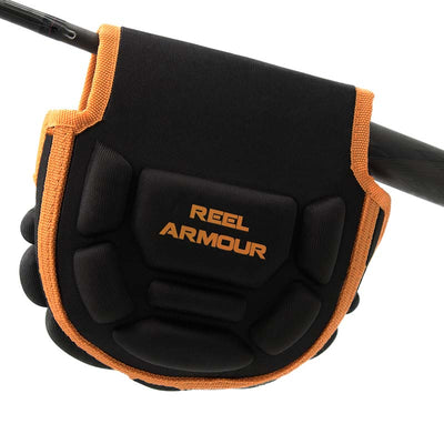 Black and orange spinning reel case