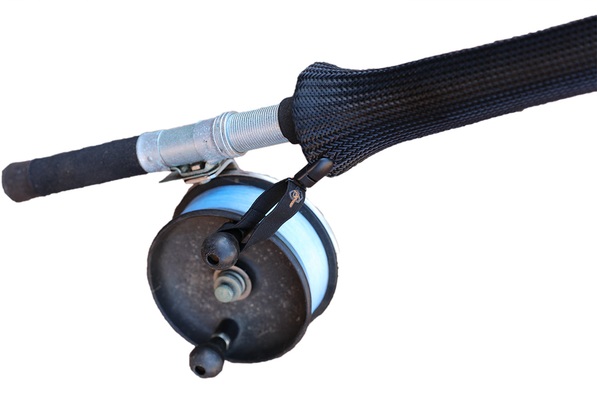 Black fishing surf rod cover 10ft - 14ft
