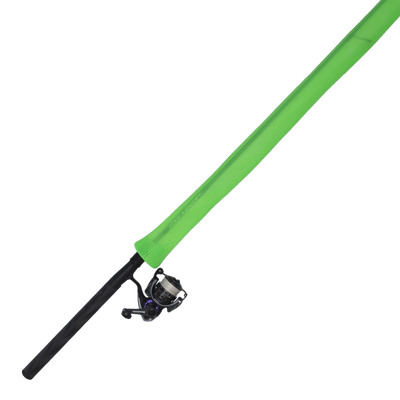 Neon green fishing rod protector 5ft to 7ft