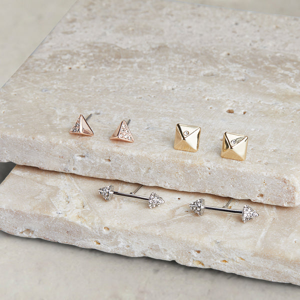 Spike Trio Earring