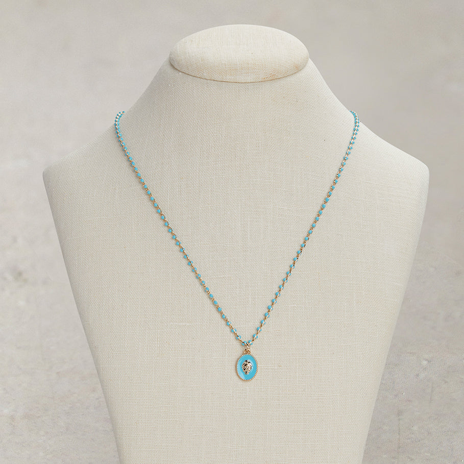 Baby Blue Buddha Necklace | BLUE COMBO