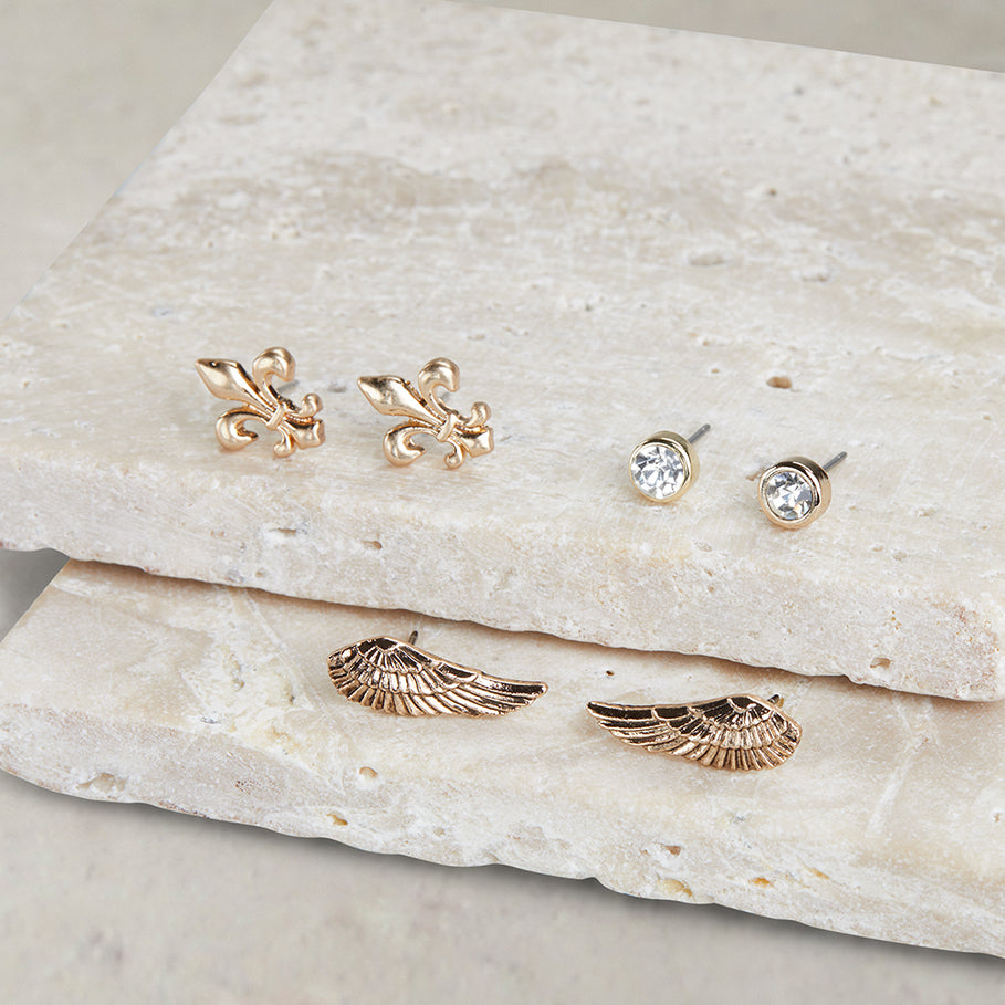 Wing Trio Earring | Wing Trio Earring