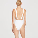 SUSPENDER SUIT | WHITE
