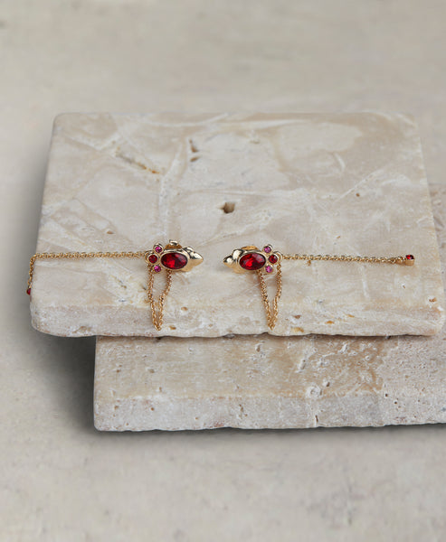 Red Handed Earring
