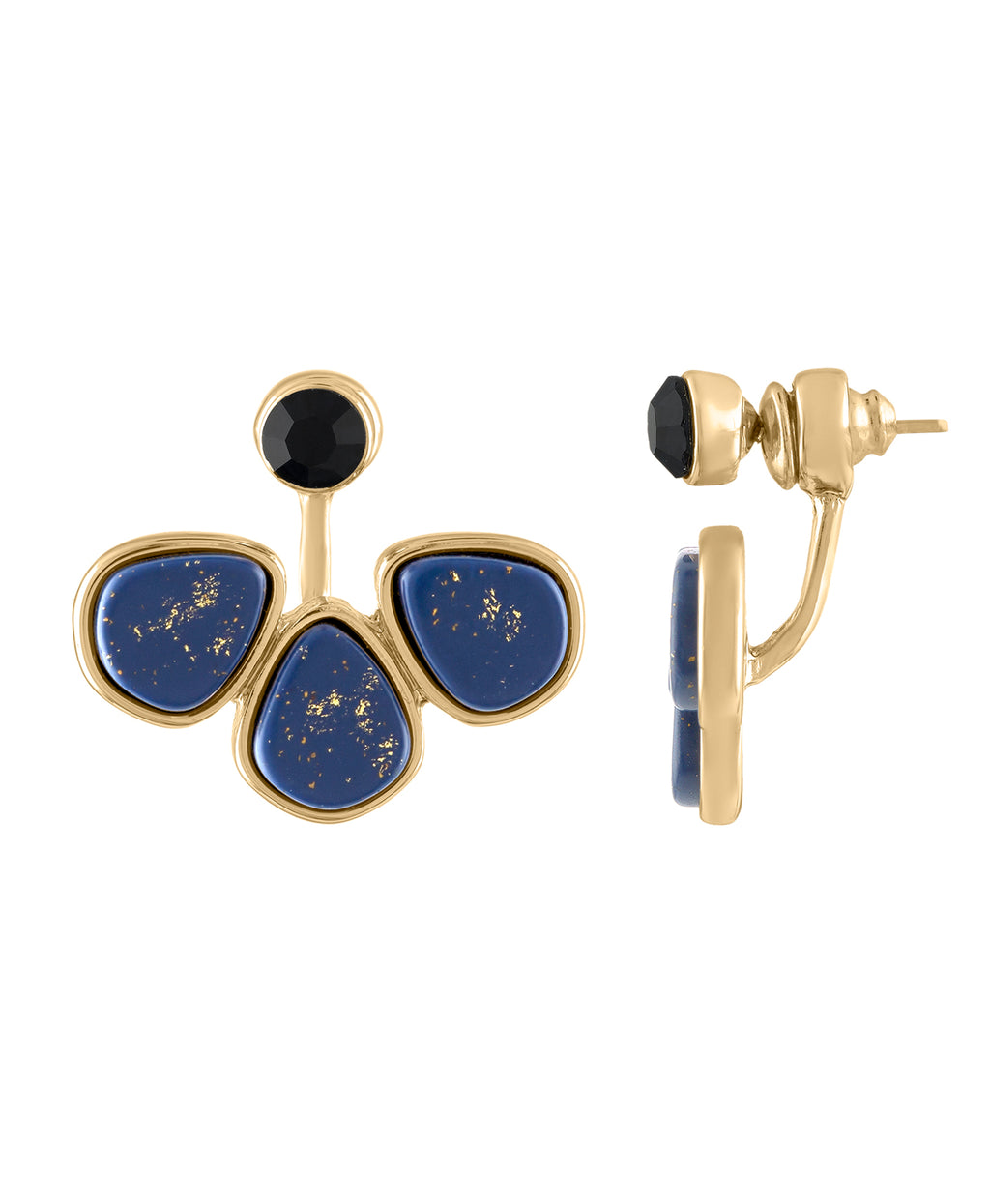 LAPIS FLOATER EARRING | LAPIS FLOATER EARRING