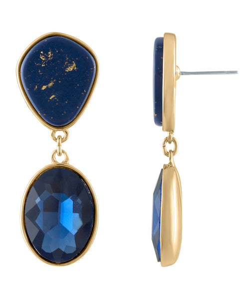 LAPIS POSTED EARRING