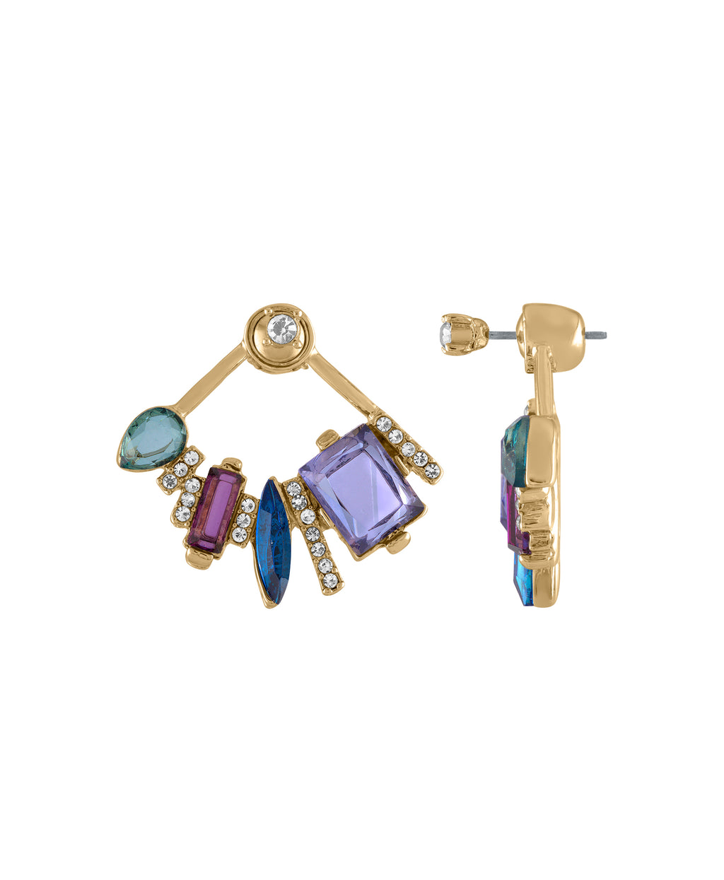 Gem floater earring  | MULTI