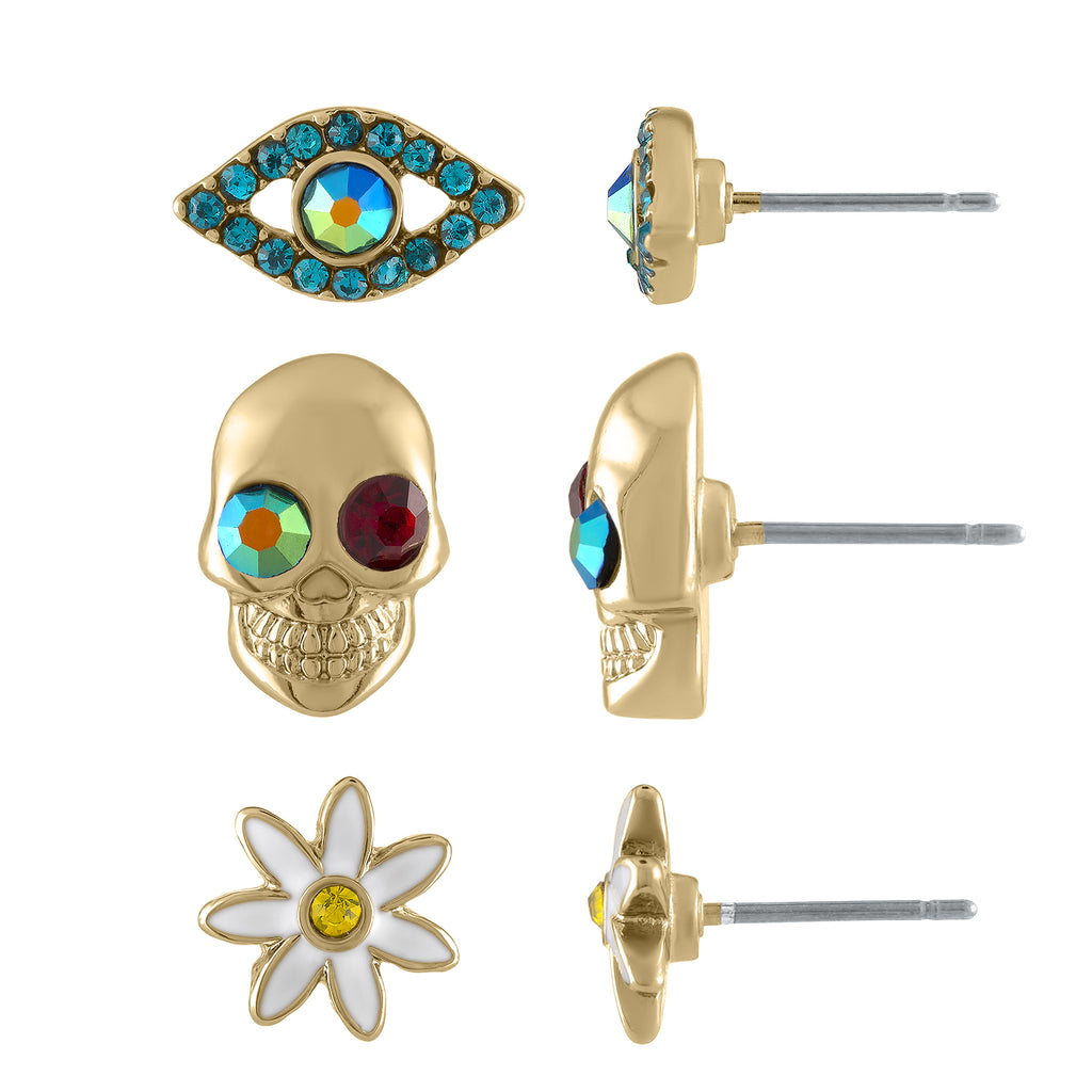 EYE SKULL TRIO EARRING | EYE SKULL TRIO EARRING