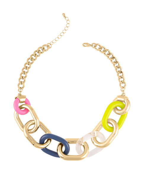 LITE BRIGHT LINK NECKLACE