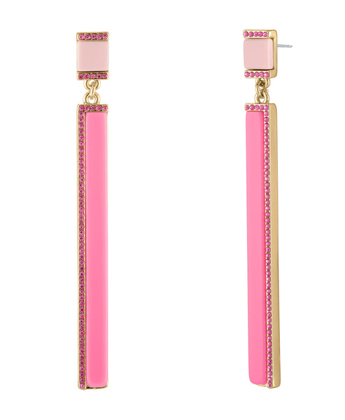 POSTED SQUARE PINK EARRING