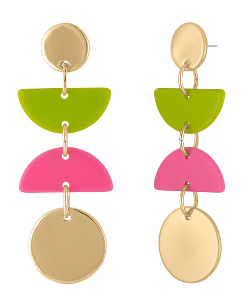 STATION DROP COLOR EARRING