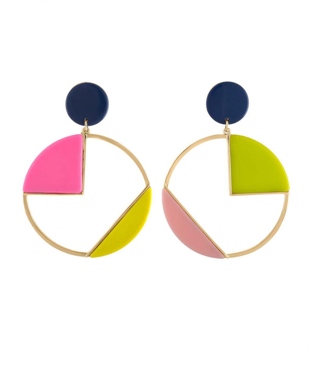 CIRCLE OF COLOR CLIP EARRING | CIRCLE OF COLOR CLIP EARRING