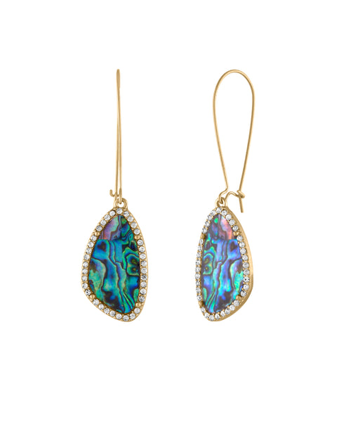 Drop Top abalone Earring
