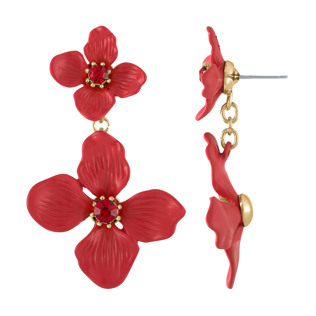 FLOWER DROP EARRING | FLOWER DROP EARRING