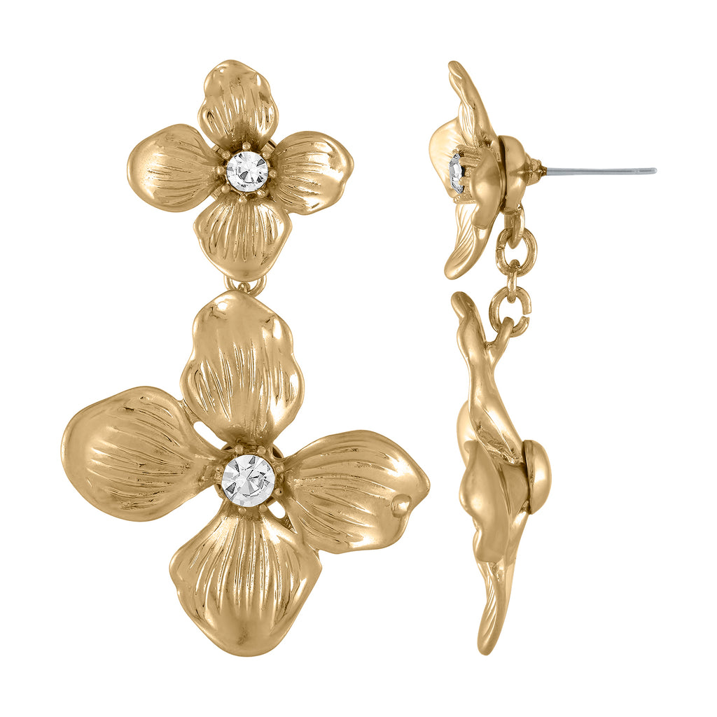 FLORAL DROP EARRING | FLORAL DROP EARRING