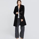 Black Faux Fur Overcoat | Black Faux Fur Overcoat