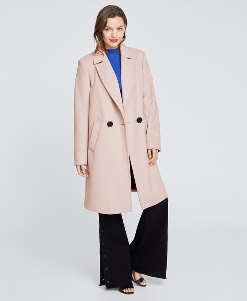 Blush Single breasted coat