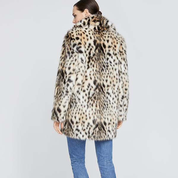 Leopard Faux Fur Topper