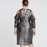 Nour Dress | GUNMETAL BLACK