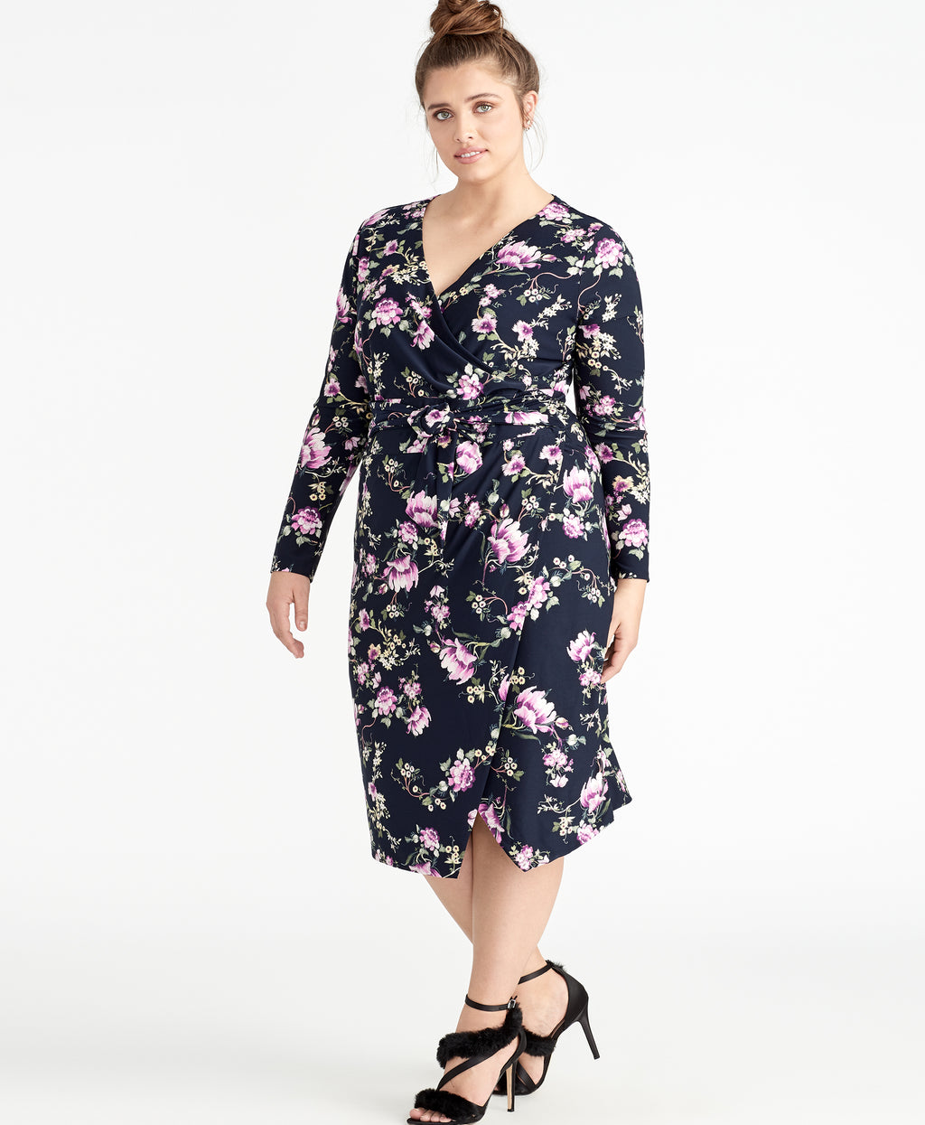Floral Printed Tie Waist Jersey Dress | Floral Printed Tie Waist Jersey Dress