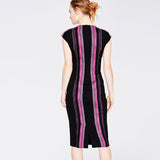TWEED STRIPE MIDI | BERRY