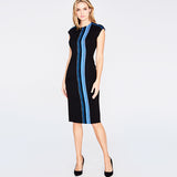 TWEED STRIPE MIDI | BLUE VIOLET