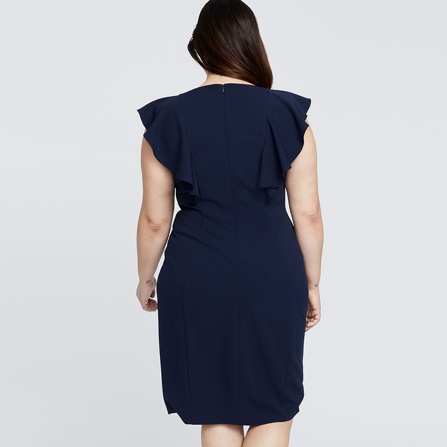 LYDIA DRESS | TRUE NAVY