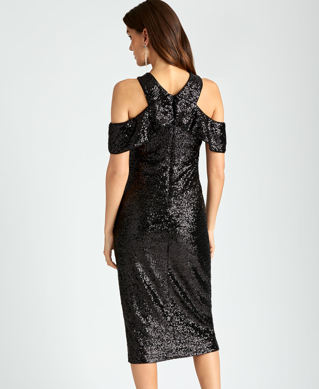 Jolie Cocktail Dress | BLACK SEQUIN