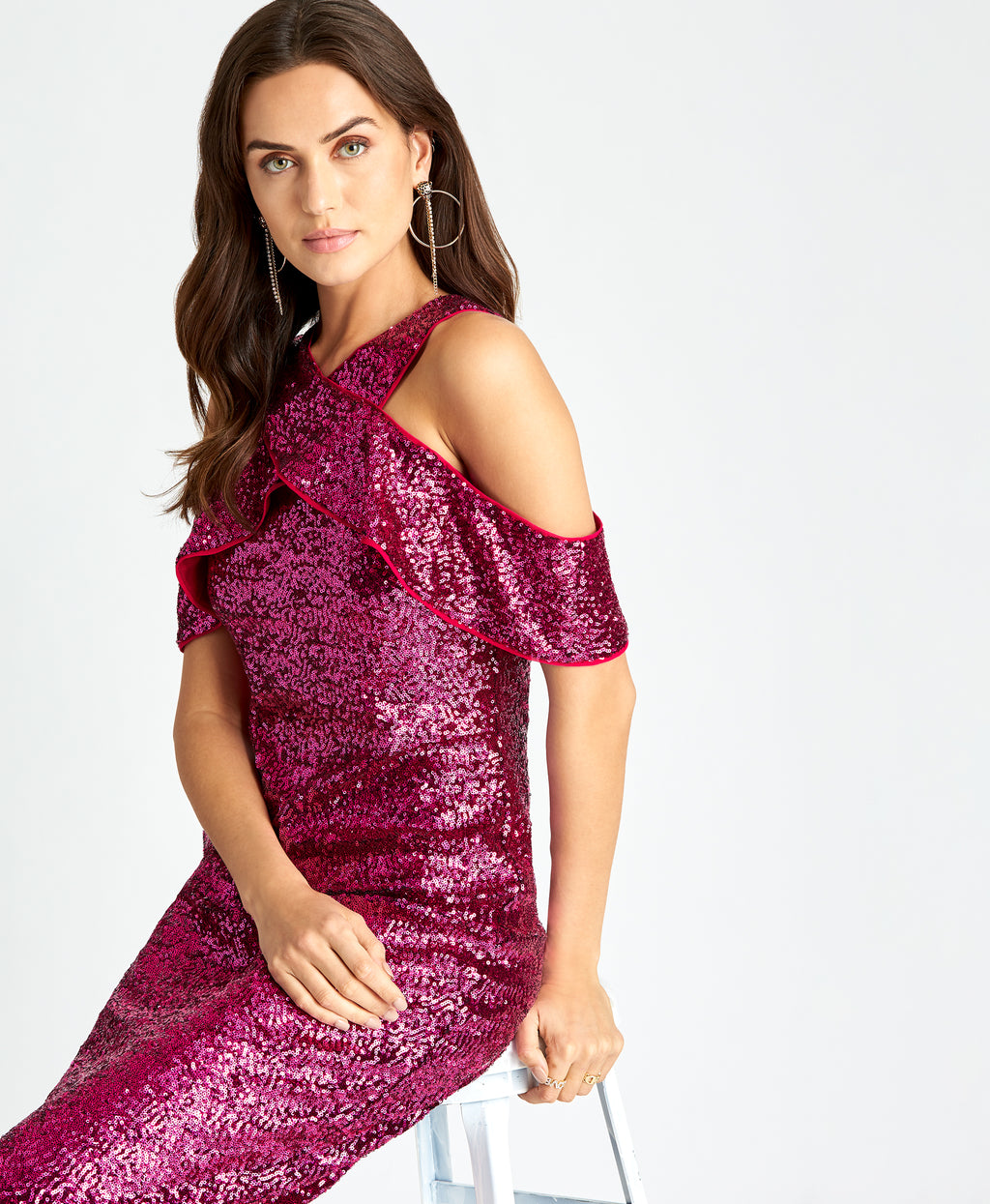 Jolie Cocktail Dress | DEEP ORCHID SEQUIN