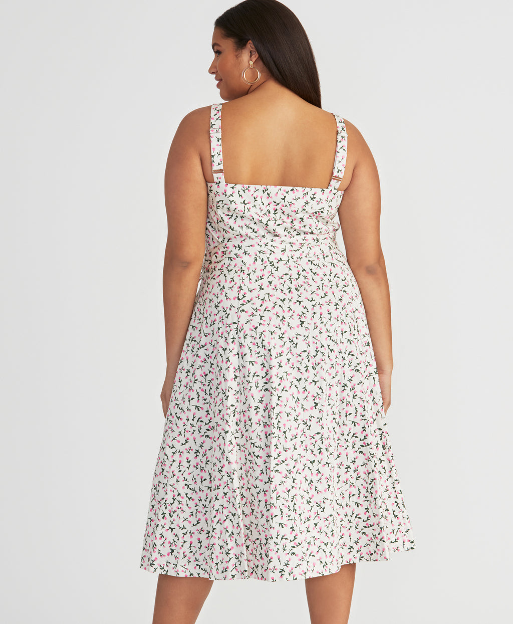 Clara Dress | Floral Ivory
