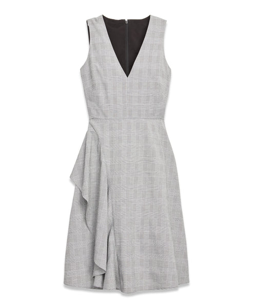 Glen Plaid Pleat Dress