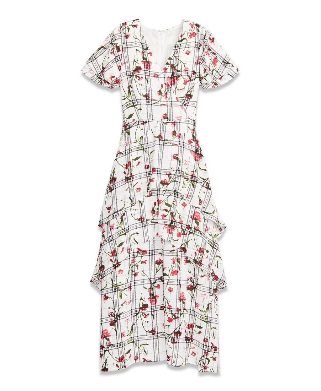 Floral Plaid Maxi Dress | Floral Plaid Maxi Dress