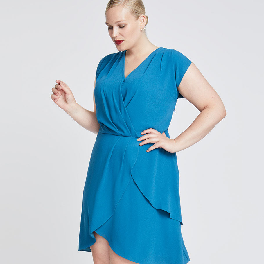 Pierce Dress | TEAL BLUE
