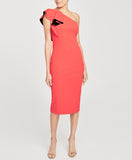 One Shoulder Ruffle Sheath Dress | One Shoulder Ruffle Sheath Dress