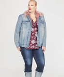 Fur Lined Trucker Jacket | CAMEO WASH