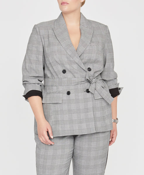 Glen Plaid Check Blazer