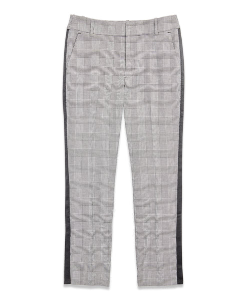 Glen Plaid Stripe Trouser