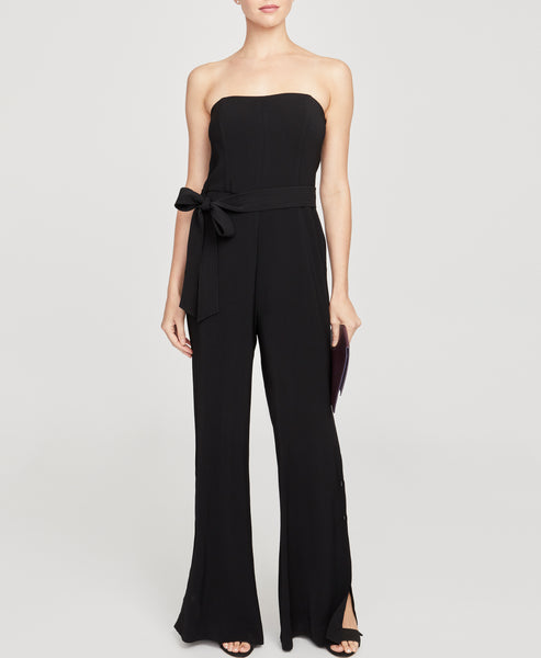 Strapless Wide Leg Jumpsuit