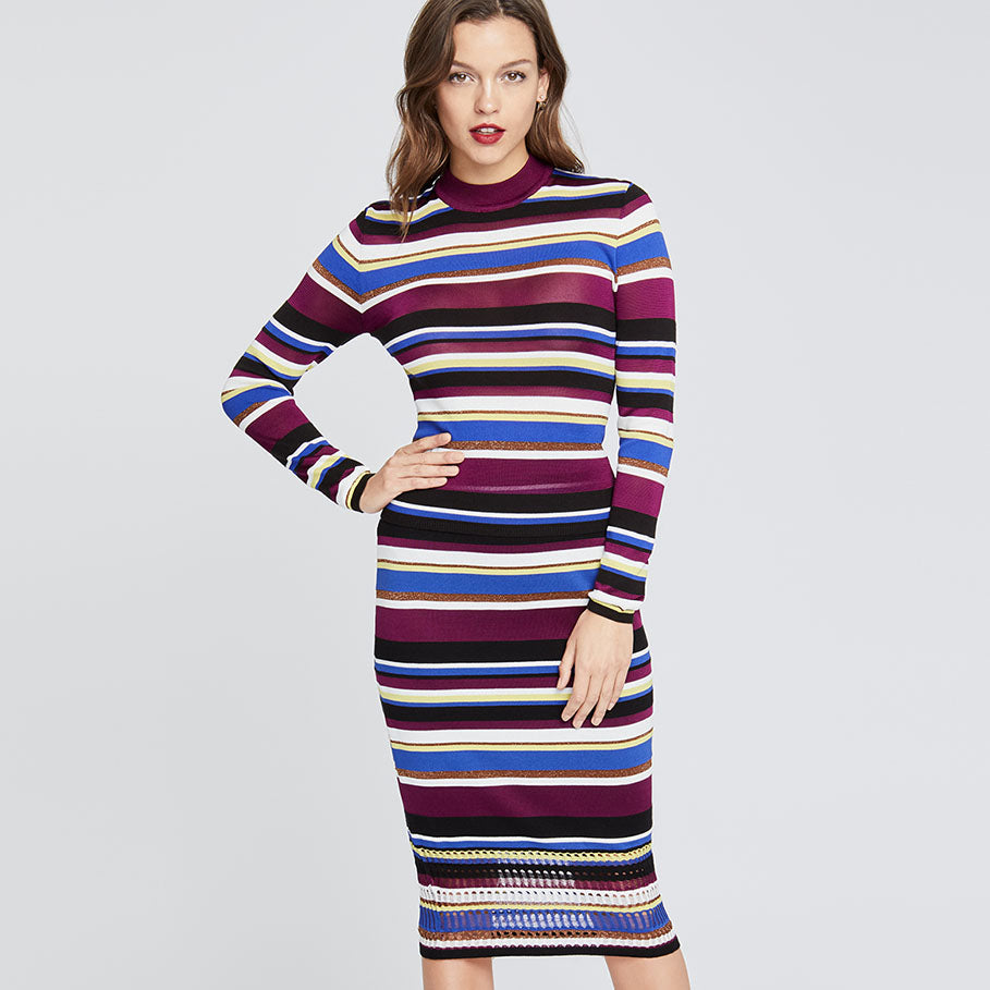 Royal Stripe Skirt | Royal Stripe Skirt