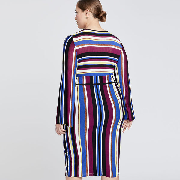 ROYAL STRIPE SKIRT