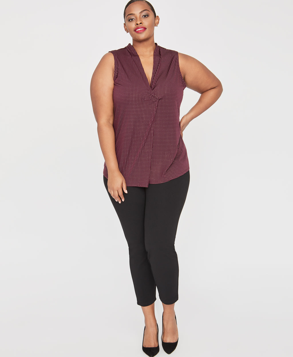 Alessia Top | ROYAL ORCHID/GOLD
