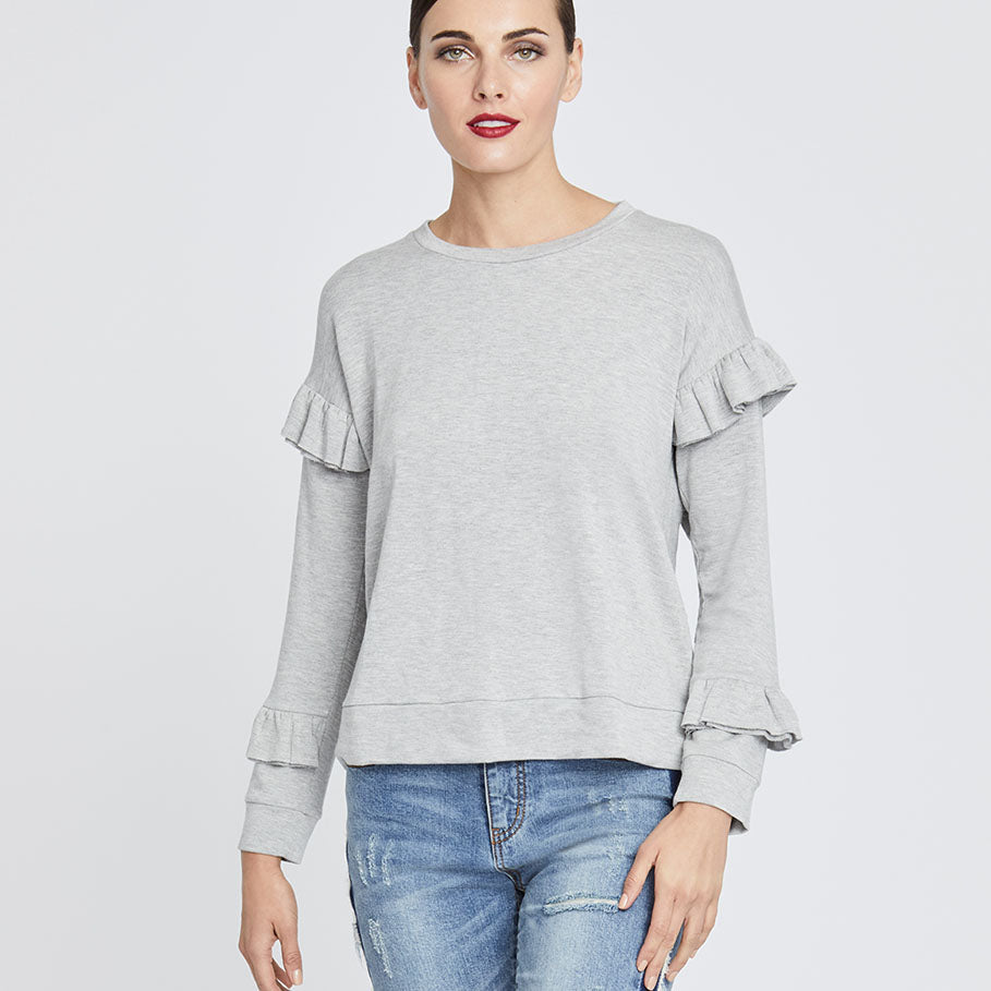 Miranda Top | HEATHER GREY