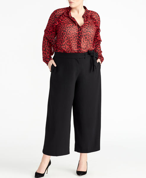 Tie Front Cropped Pant