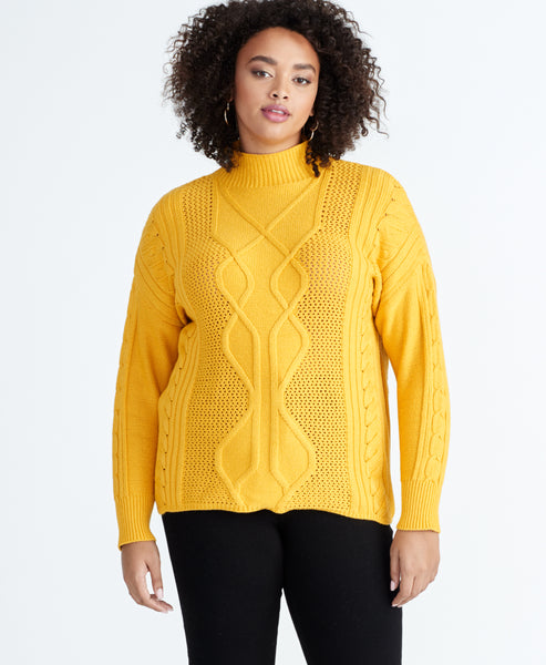 IMAN CABLE SWEATER