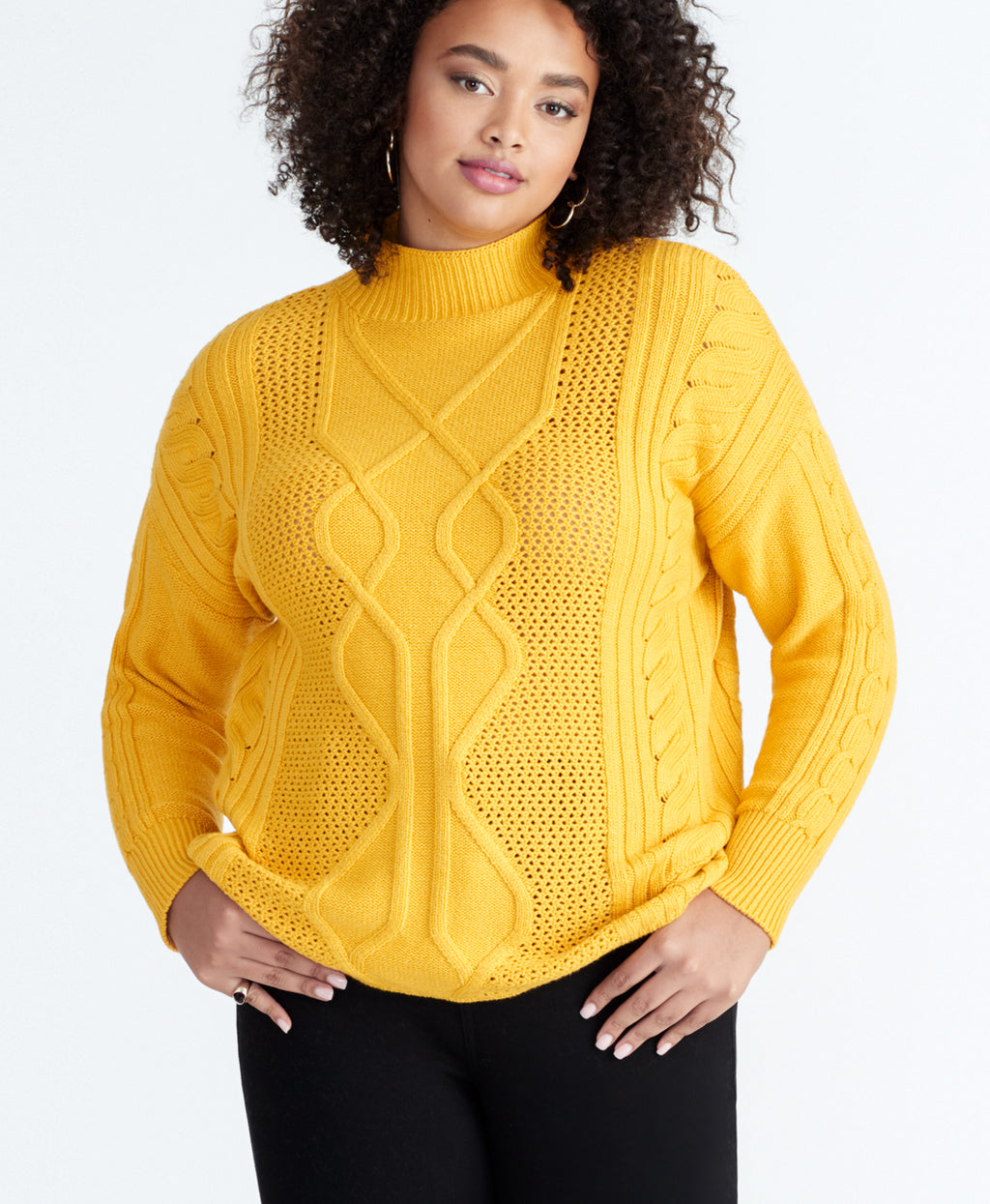 IMAN CABLE SWEATER | IMAN CABLE SWEATER