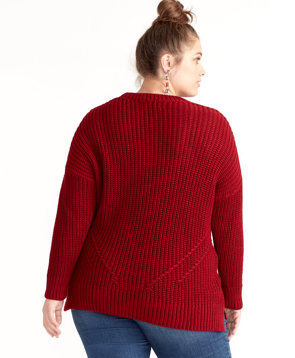 RINA SWEATER | RUBY RED
