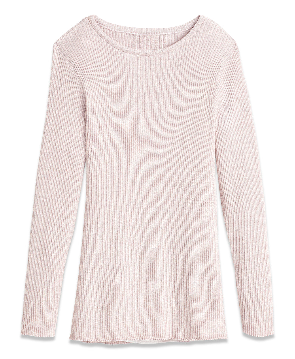 METALLIC PULLOVER | BLUSH